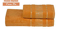 Бамбуковое полотенце Gursan Bamboo оранжевое (50х90)