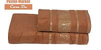 Бамбуковое полотенце Gursan Bamboo терракотовое (50х90)