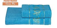 Бамбуковое полотенце Gursan Bamboo бирюзовое (50х90)