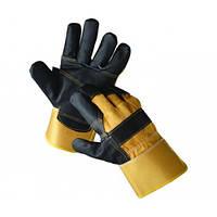 4291 Перчатки комбинированные х/б + кожа Ориол