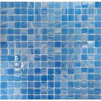 Мозаика авантюрин/перламутр светло-голубая - «YB 06» 2 x 2 см