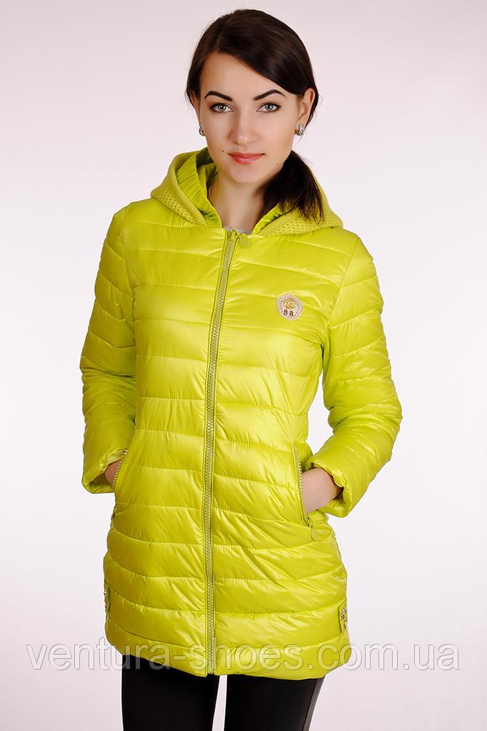 Осенняя женская куртка  HAXUS - 5005 салат скидка