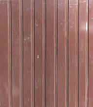 Коричневый. Профнастил 2,0х0,95м (0,4мм, волна - 14мм) оцинкованный пр-во Украина