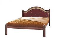 """Кровать металлическая с мягким изголовьем """"Эсмеральда"""""""