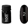 Гель краска Kodi Professional №02 Черная