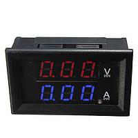 Цифровой амперметр вольтметр постоянного тока на микроконтроллере электронный встраиваемый 10А