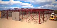 Строительство ангаров, навесов из металлоконструкций для ангаров, теплиц. Возможность изготовить металлоконстр