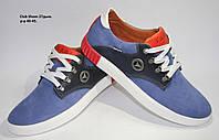 Мужские стильные спортивные кеды Club Shoes из натурального турецкого нубука и прочной подошвы