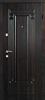 """Входная дверь Гарант, серия """"Комфорт"""" ТМ """"Портала"""" Орех темный, 950*2040, ПВХ пленка, Левая"""