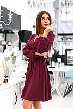 """Приталенное двухстороннее платье-мини """"Desire"""" с длинным рукавом (4 цвета), фото 2"""