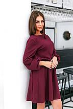 """Приталенное двухстороннее платье-мини """"Desire"""" с длинным рукавом (4 цвета), фото 3"""