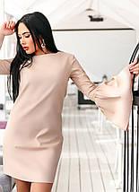 """Оригинальное короткое платье А-силуэта """"Lola"""" с расклешенными рукавами (2 цвета), фото 2"""