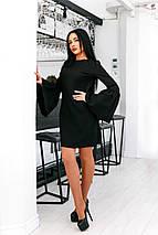"""Оригинальное короткое платье А-силуэта """"Lola"""" с расклешенными рукавами (2 цвета), фото 3"""