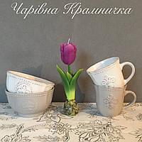 Столовый набор Королевский пиала кружка керамика (набор 2 предмета)