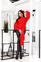 """Двухстосронняя женская блуза """"Monika"""" с рукавами фонариками (2 цвета), фото 2"""