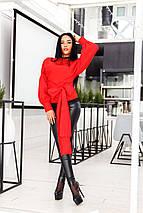 """Двухстосронняя женская блуза """"Monika"""" с рукавами фонариками (2 цвета), фото 3"""