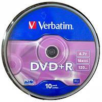 Диски DVD-R Verbatim 10 штук в пластиков… (арт.DVD10)