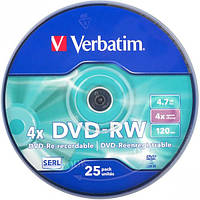 Диски DVD-RW VERBATIM 4,7  Gb 4  x Cake … (арт.43639)