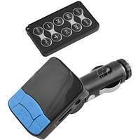 FM модулятор в машину 118: слот для карт памяти, USB, пульт ДУ, резиновые кнопки