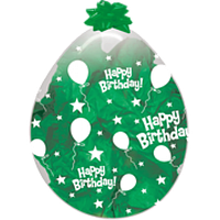 """Шар-Упаковщик 18"""" 45 см С Днем рождения кристалл прозрачный для упаковки подарков и цветов"""
