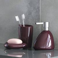 Дозатор для жидкого мыла керамический SPIRELLA ETNA SHINY бордовый, коричневый