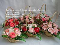 """Корзина роз из raffaello""""Звездочка""""№7"""