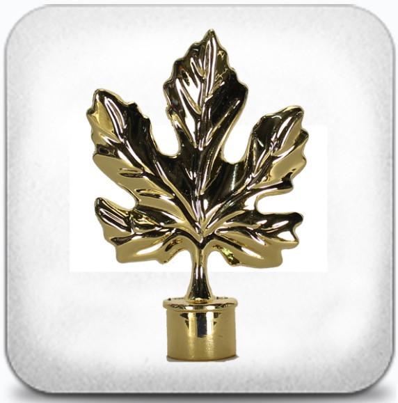Лист клёна д.19мм золото