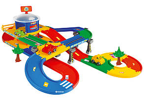 Игровой набор Мега Гараж Wader 53130 с дорогой 5,5 м.