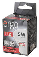 Светодиодная лампа ERGO, 5W, 4100K, нейтрального свечения, MR16, цоколь - GU10, 3 года гарантии!!!