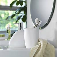 Дозатор для жидкого мыла керамический Spirella ETNA белый, черный, коричневый