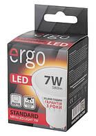 Светодиодная лампа ERGO, 7W, 3000K, тёплого свечения, MR16, цоколь - GU10, 3 года гарантии!!!