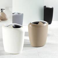 Відро для сміття Spirella ETNA біле, чорне, коричневе, фото 1