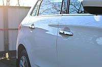 Накладки на двери авто для ручек Ситроен С-4 2010+