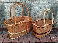 Плетеная корзина  сумка из лозы