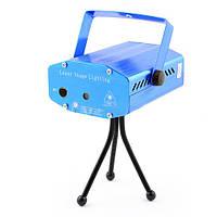 Диско лазер YX-05: металлический корпус, LED диоды, 2 режима работы, функция акустического контроля