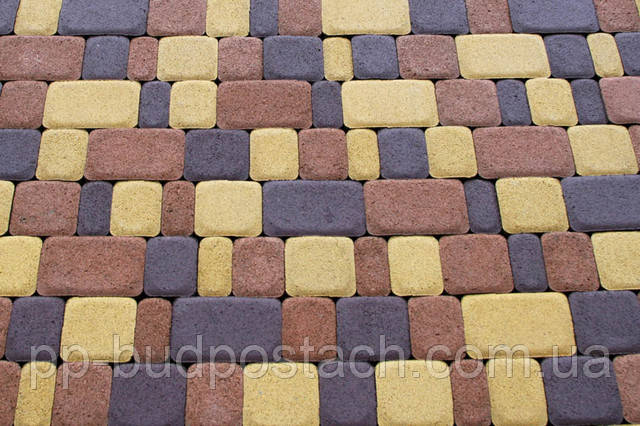 Тротуарна плитка Старе місто Золотий мандарин асортимент