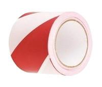 Лента сигнальная (красно-белая) 72х100м