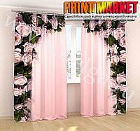 Фотошторы розовая арка