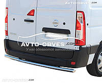 Защита заднего бампера на Opel Movano, труба одинарная (п.к. AK)