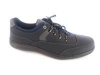 Туфли спортивный на шнурках мужские синий  Perfect- K-10