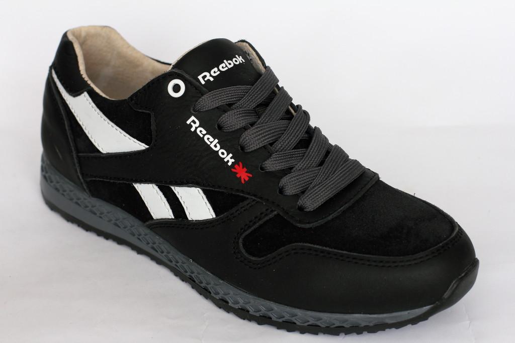 Подростковые  кроссовки   Reebok черного цвета