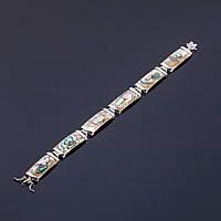 АкцияБраслет Перламутр Халиотис Королевский L-20см звено 2,8х1,3см