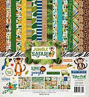 """Набор бумаги 30*30 см Echo Park """"Jungle Safari"""", JS117016"""
