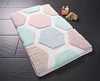 Коврик для ванной с цветами 50х60 см Конфетти Tenedos голубой CB37