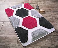 Коврик для ванной с цветами 50х60 см Конфетти Tenedos Siyah CB37