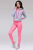 """Яркий женский спортивный костюм """"Neon"""" с капюшоном (2 цвета)"""