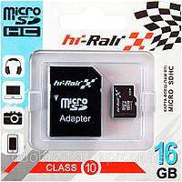 "Micro SD 16 GB Class 10 ""hi-Rali"" с SD адаптером"
