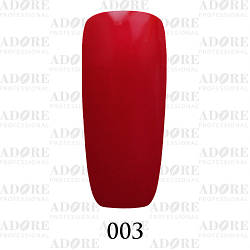 Гель лак Adore №003, Темный красный  9 мл