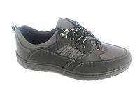 Туфли спортивный на шнурках мужские серый Comfort T-10