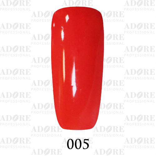 Гель лак Adore №005, Алый красный 9 мл